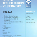 Best Of TechED Europe & Infra Day Etkinliği