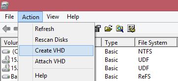 Windows 8.1 Yeni Sanal Disk Yapısı (Vhdx)