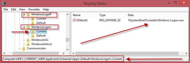 Windows 8'de Oturum Açma/Kapama Seslerini Registry'den Kontrol Etmek