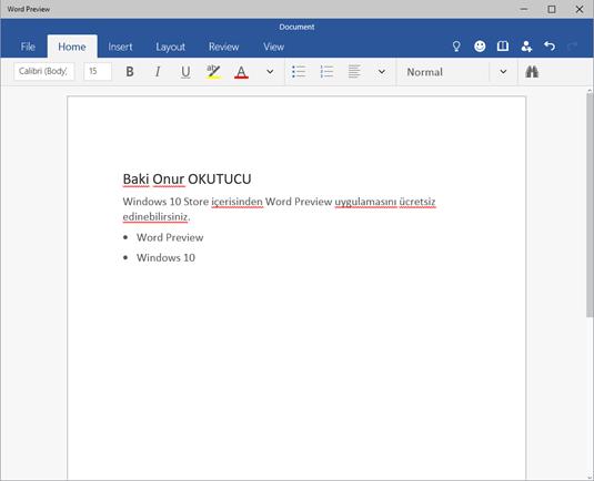 Windows 10 kullanıcıları için ücretsiz Word, Excel, Powerpoint ve daha fazlası