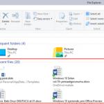 Windows 10 Sırları-Home sekmesini temizlemek