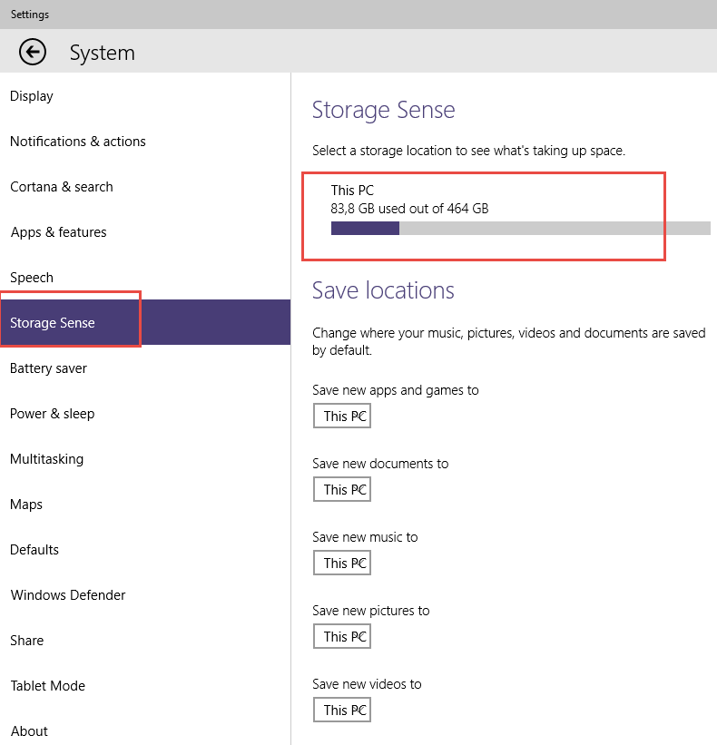 Windows 10 Sırları – Storage Sense (Updated)