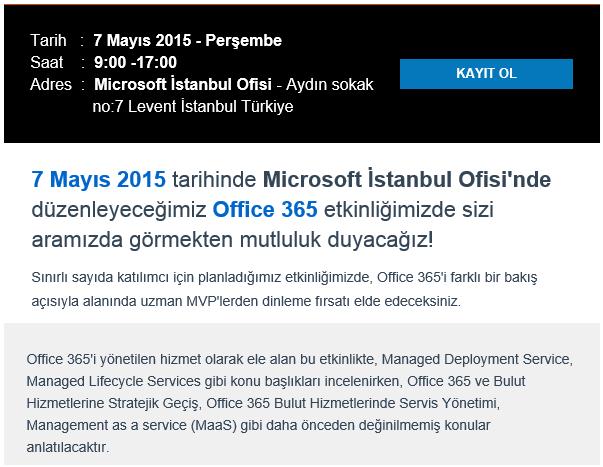 Office 365 etkinliğimize davetlisiniz!