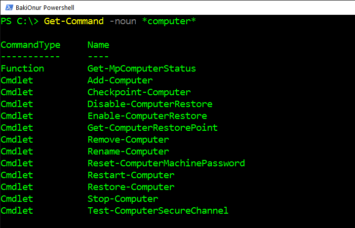 Powershell ile -Computer- Komutları – Part 1