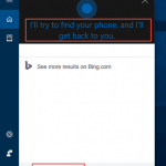 Windows 10'da Cortana ile Find My Phone Özelliği