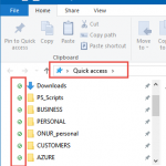 Windows 10 OneDrive Hizli Erisim Simgeleri