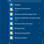 Windows 10'da uygulamalari alfabetik olarak listelemek
