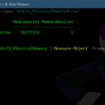 PowerShell ile Bos RAM slotlarini ogrenmek