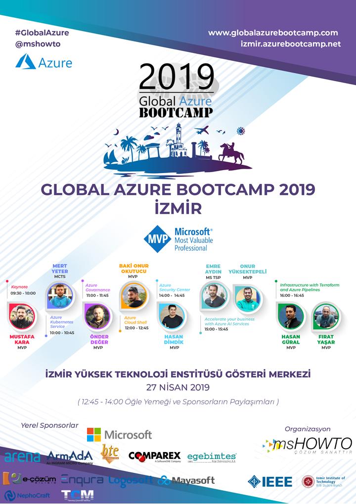 Azure Bootcamp icin 27 Nisan'da tum dunyayla ayni anda Izmir'deyiz