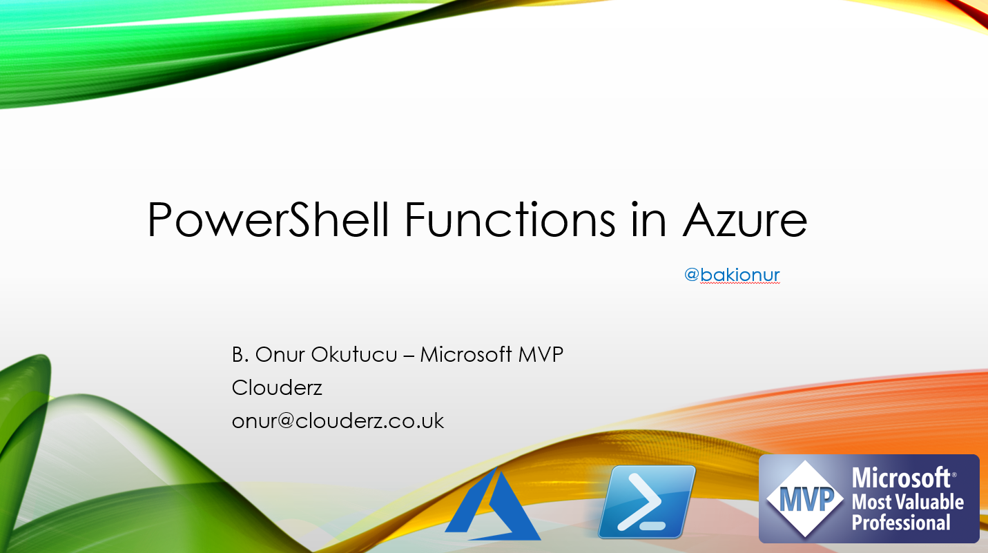 07 Kasim Webiner – PowerShell Functions in Azure